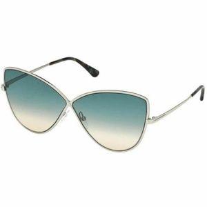 Tom Ford Cat Eye Sunglasses W/Blue Gradient Lens